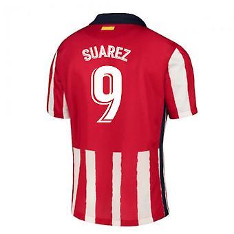 2020-2021 Atletico Madrid Home Nike Football Shirt (SUAREZ 9)