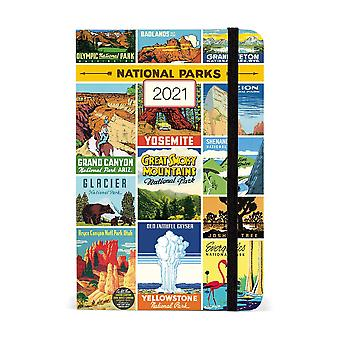 Cavallini National Parks 2021 Weekly Planner Diary Journal Agenda