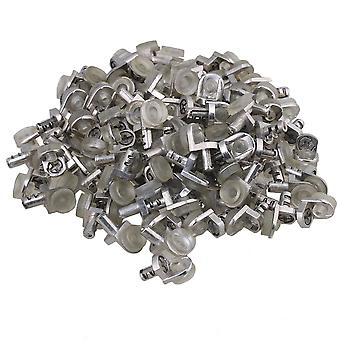 100 Pieces Silver Transparent Shelf Support Stud for Cabinet Cupboard