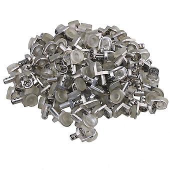 100 db ezüst átlátszó polc tartó stud a kabinet szekrény