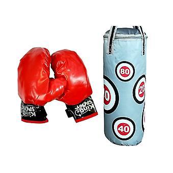 Boxset til børn - med handsker og boksebold - 45x14 cm