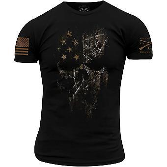 グラントスタイルリアルツリーエッジアメリカンリーパーTシャツ - ブラック