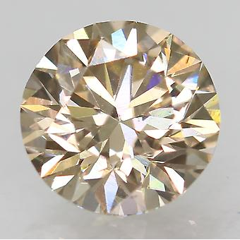 Cert 0.50 Karat Top Vaaleanruskea VVS2 Pyöreä Brilliant Natural Diamond 5.11mm 3EX