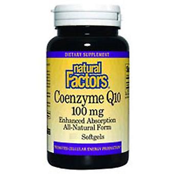 Luonnolliset tekijät Coenzyme Q10, 100 mg, 30 Softgels