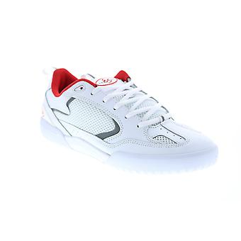 ES Quattro  Mens White Leather Skate Inspired Sneakers Shoes