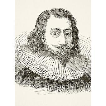 Sir John Eliot 1592 To 1632 English Statesman From The National And Domestic History Of England By William Aubrey Published London Circa 1890 PosterPrint
