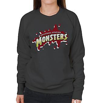 Universal Studios Monsters Blood Logo Women's Sweatshirt