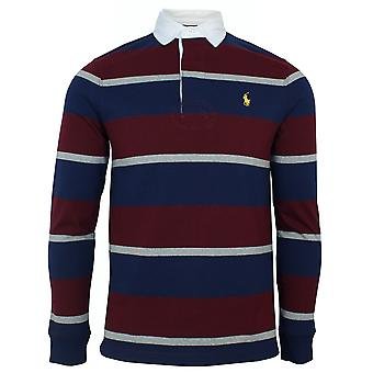 Ralph lauren classic men's red and navy rugby polo