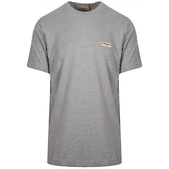 Nudie Jeans Daniel Grey Melange Logo T-Shirt