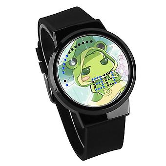 Водонепроницаемые светящиеся светодиодные цифровые сенсорные детские часы - Путешествующая лягушка #53