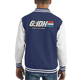 GI Joe Gee I Dont Know Kid's Varsity Jacket