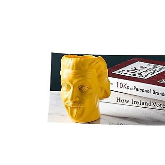 Einstein Head Statue Sculpture Flower Pot/container - Desktop Flower