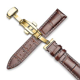 Luxury calf leather watch strap alligator grain with gift box 18mm 19mm 20mm 21mm 22mm 24mm