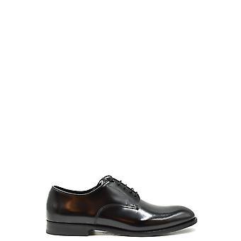 Doucal's Ezbc089044 Men's Black Leather Lace-up Shoes