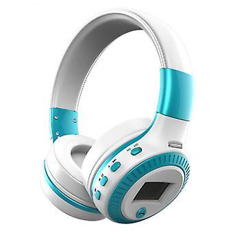 Zealot B19 Wireless Headphones with LED Display and FM Radio - Bluetooth 5.0 Wireless Headphones Stereo Studio Blue