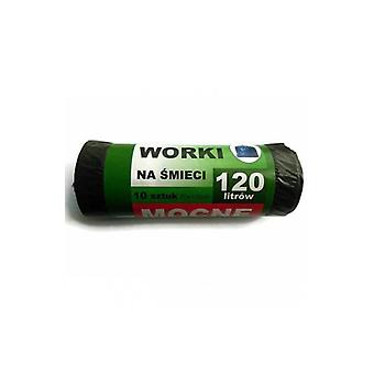 Worki Na Å›mieci 120l A10 Czarne Elh