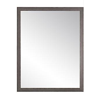 Charcoal Farmhouse Gray Wall Mirror 29.5'' X 24.5''