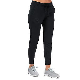 Women's Under Armour Rival Fleece Metallic Jog Pants in Black