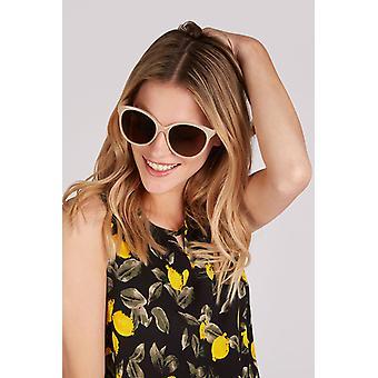 Louche Womens Lilly Round Cat Eye Sunglasses Pink