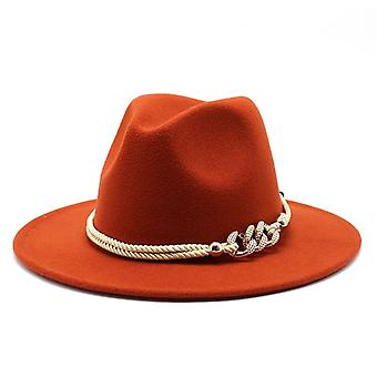 Wide Brim Simple Church Derby Top Hat Panama Solid Felt Fedoras Men Women
