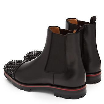 Casual pantofi din piele Rivet, Glezna Chelsea Cizme