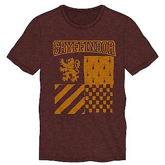 Harry potter gryffindor element of fire men's burgundy t-shirt