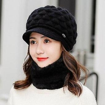 Double Layer Design Winter Rabbit Fur Caps