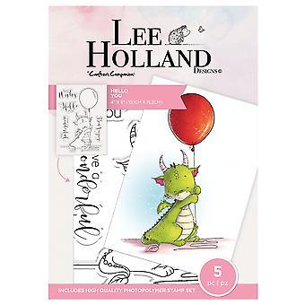 Crafter's Companion Lee Holland Tydliga frimärken Hej du
