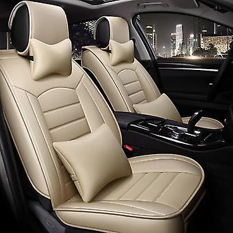 5st Set Bilbarnstol täcka ventilerande läder sittdyna bil sittplats kudde stol