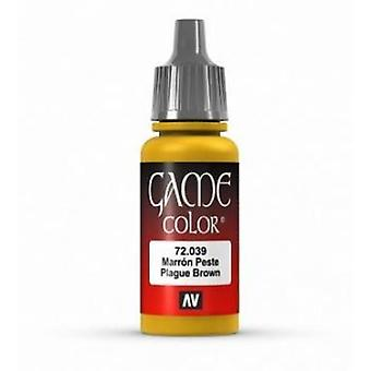 Vallejo Game Color 17ml Acrylic Paint 39 Plague brown