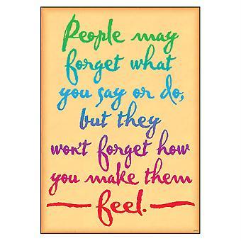 """Die Leute können vergessen, was Sie... Argus Poster, 13.375"""" X 19"""""""