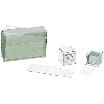 Bresser 5916000 microscope accessories slides (50 pcs) and cover glasses (100 pcs) single