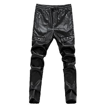Men's Leather Tights Pants