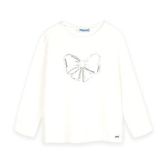 Mayoral girls ivory long sleeve t-shirt 178/72