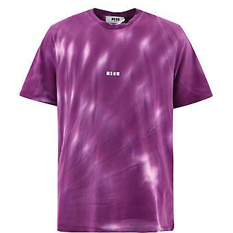 Msgm 3040mm18321709472 Mænd's Purple Cotton T-shirt