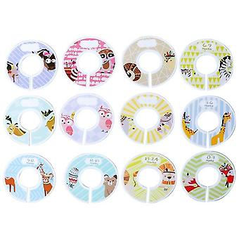 Baby Diy Clothes Size Dividers Round Plastic Clothing Hanger