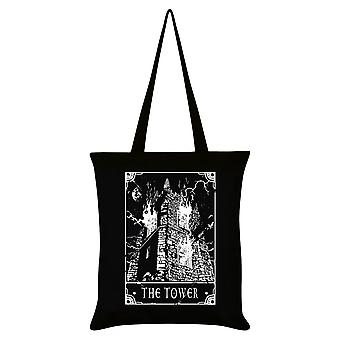 Deadly Tarot The Tower Tote Bag