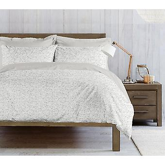Parure Bettbezug Mandy Farbe weiß, Baumwolle grau, L250xP200 cm, L50xP80 cm