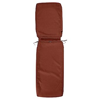 """Accesorios Clásicos Montlake Fadesafe Patio Chaise Lounge Cojín Slip Cover - 3"""" Grueso - Heather Henna Red, 72""""L X 21""""W X 3""""T (60-112-016601-Rt)"""