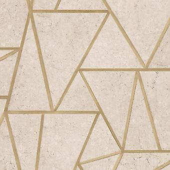 Grandeco gold geometric shapes wallpaper