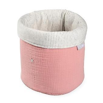 Foldable Pink Tetra Storage Bin Closet Toy Box Container Organizer