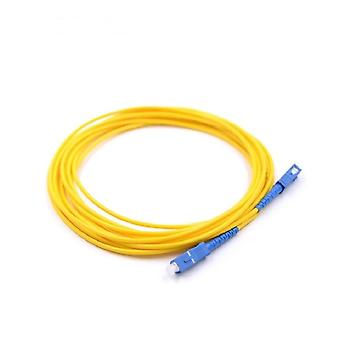 Sc/upc Simplex 3.0mm Single Mode Os2 G652d Fiber Optic Patch Cord Cable