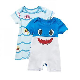 Vauva Shark Romper 2 Pakkaus