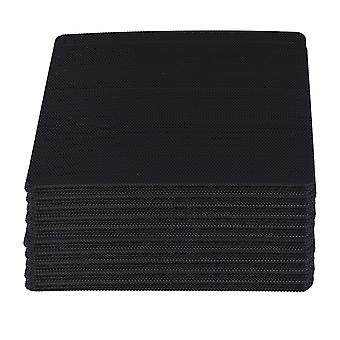 100pcs Black Computer Case Fan Dustproof Dust Filter Fits Standard 120mm Fans