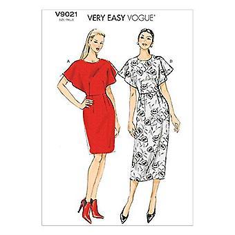 Vogue Mønstre V9021A50 Misses ' Kjole Sy Mal, Størrelse A5 (6-8-10-12-14)