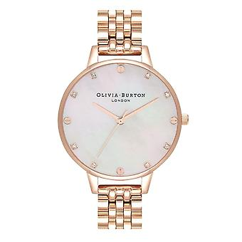 Olivia Burton Ob16se15 Demi Blush Mother Of Pearl Dial And Rose Gold Bracelet Ladies Watch