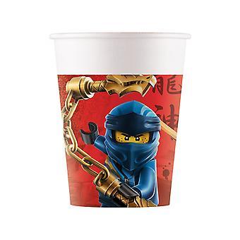 8 Gobelets en carton FSC® Lego Ninjago 200 ml