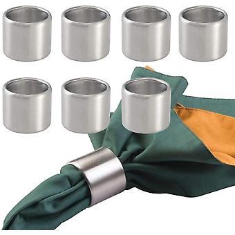 HanFei 8er-Set Serviettenringe & praktische Serviettenhalter aus gebrstetem Edelstahl & stilvolle