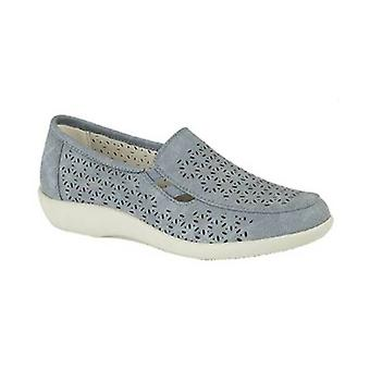 Boulevard Ruth Ladies Cut Out Slip On Shoes Navy