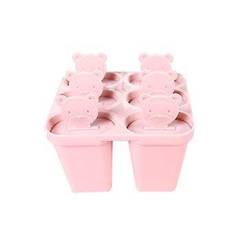 6-cell DIY combination popsicle ice cream mold, sorbet mold with lid